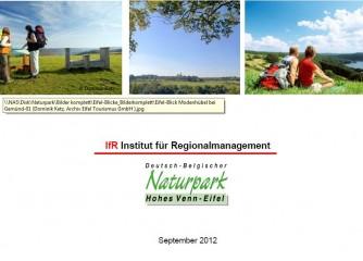"""Titelseite der Studie """"Ergebnisse der Besucherbefragung zur Akzeptanz von Windkraftanlagen in der Eifel"""""""