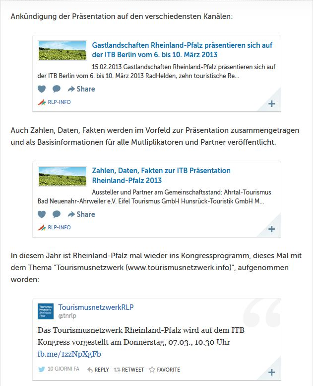 Gastlandschaften Rheinland-Pfalz auf der ITB 2013_storify vom 6.3.2013