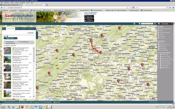 Tourenplaner Rheinland-Pfalz Zertifizierte Wege