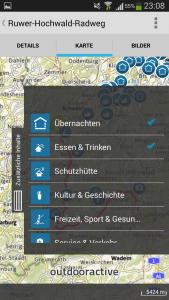 Touren-App Rheinland-Pfalz - Liste der Punktobjekte