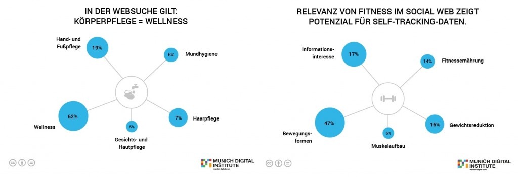Abbildung 3: Healthcare Footprint Top 5 Themenfelder der Online-Suchanfragen und im Social Media im Cluster Körperpflege³