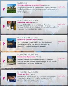 RC Screenshot Veranstaltungen