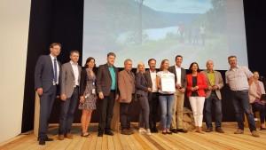 Auszeichnung Saar-Hunsrück-Steig - Messe TourNatur 2017 - Foto: RPT