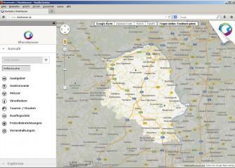 Interaktive Karte auf www.rheinhessen.de