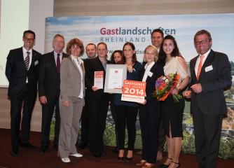 """Das Klosterhotel Marienhöh in Langweiler/Naheland ist """"Gastgeber des Jahres 2014"""""""