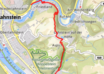 Kartenausschnitt Touren-App Rheinland-Pfalz