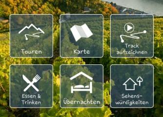 Präsentationen zu den Funktionen der Touren-App Rheinland-Pfalz