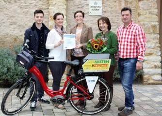 Flonheimer Weingut und Landhotel Strubel-Roos ist Bett+Bike-Betrieb des Monats Oktober