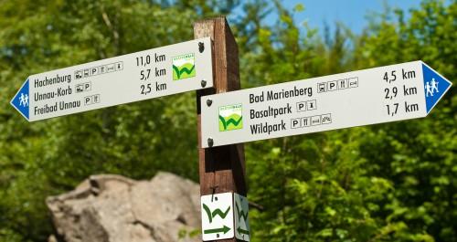 Westerwald-Steig Wegweiser