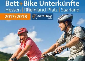 Kostenloses Bett+Bike-Regionalverzeichnis für Hessen, Rheinland-Pfalz und das Saarland erschienen