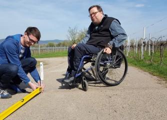 Erhebung des ersten barrierefreien Wanderwegs in Rheinland-Pfalz
