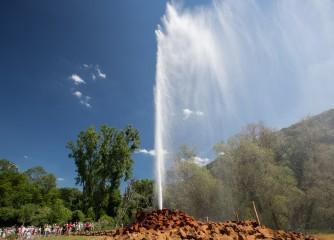 Millionster Besucher erlebt den Geysir Andernach