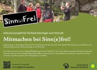 Nationalpark barrierefrei – Mitmachen bei Sinn(e)frei!