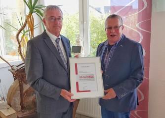Ortsgemeinde Niederwörresbach für 50jährige Mitgliedschaft im Tourismus- und Heilbäderverband Rheinland-Pfalz e.V. geehrt.