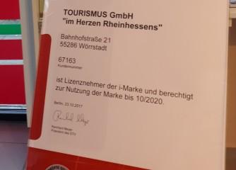 """Tourismus GmbH """"Im Herzen Rheinhessens"""" meistert Qualitätscheck"""