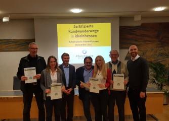 Erfolgreiche Nach-Zertifizierung der Hiwweltouren in Rheinhessen