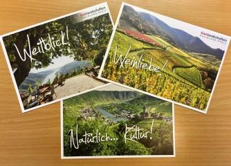 """Postkarten für die Zielgruppe  """"Reifere Natur- und Kulturliebhaber"""""""