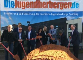 Spatenstich für neue Jugendherberge in Saarburg
