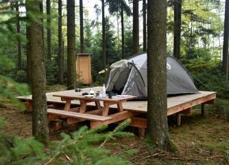 Zelten in freier Natur im Prümer Land – Ab dem 01. April sind die beliebten Naturlagerplätze auch entlang des Schneifel-Pfades buchbar.