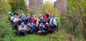Blogger und Partner beim Bloggerwandern 2019 (Foto: Karin Hünerfauth-Brixius, RPT)