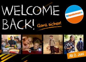 Welcome Back in den Jugendherbergen ab dem 2. Juni